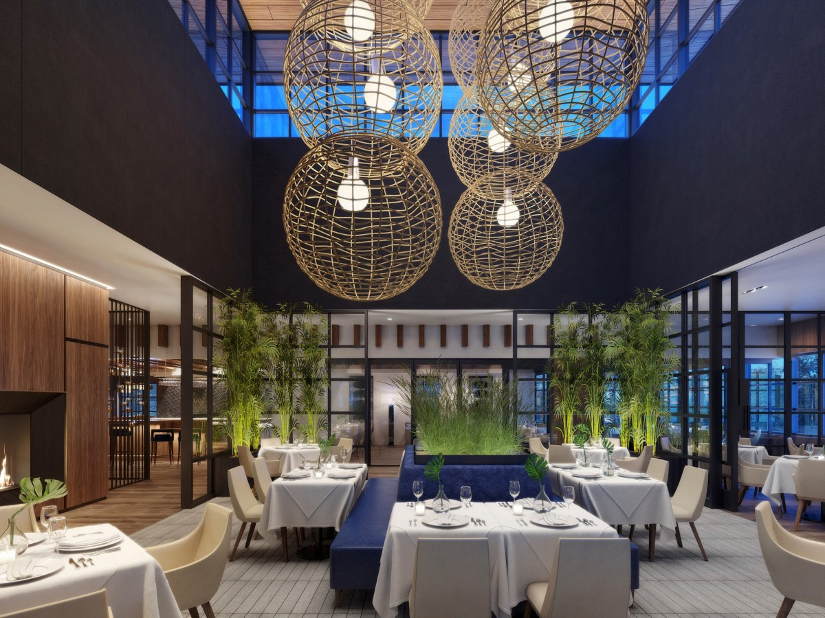 Ocean 48 dining room rendering