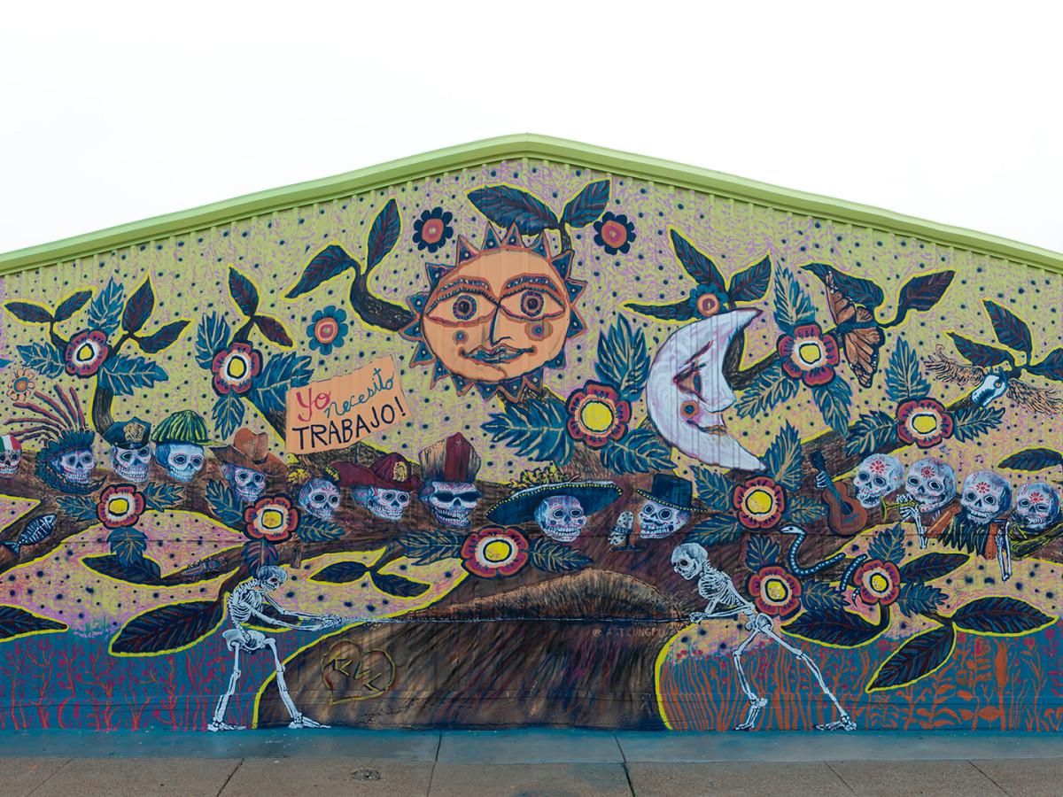 Muertos Mural Panorama