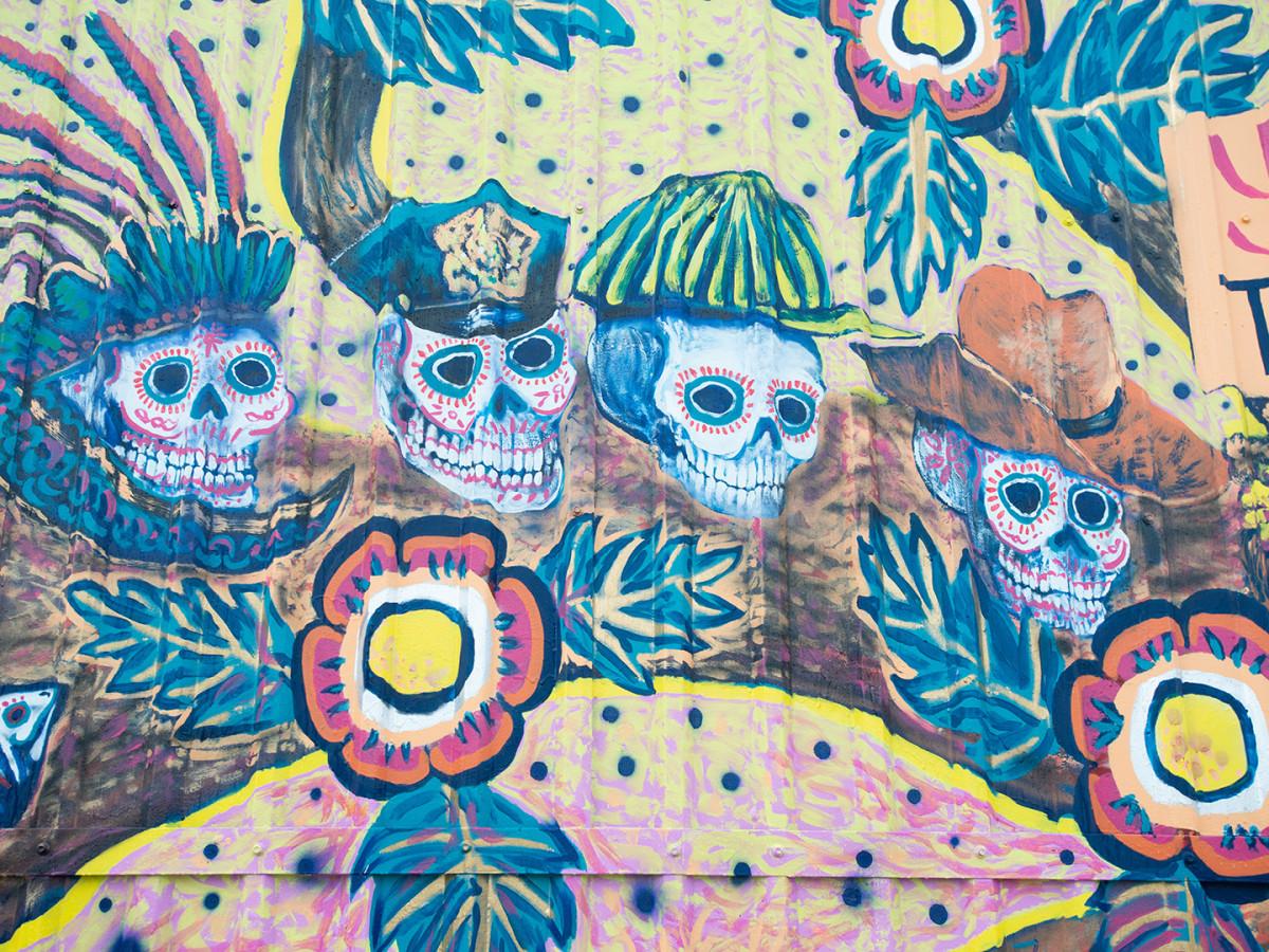 Muertos Mural Skulls