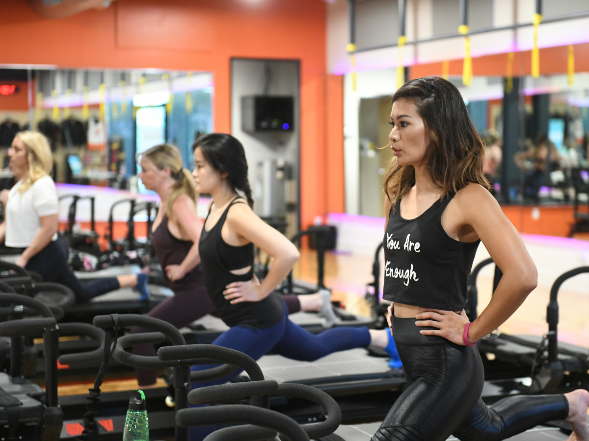Working out at Frost it Forward Fitness