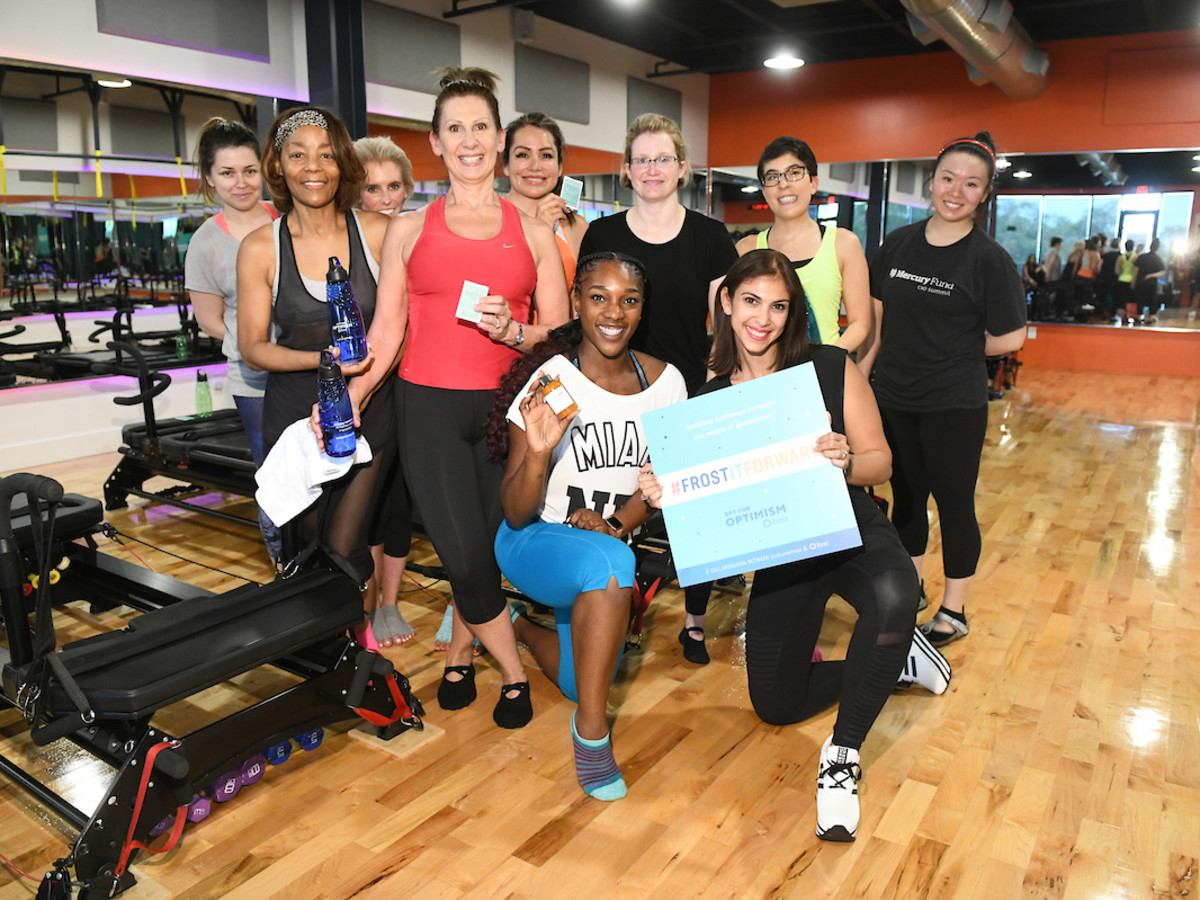 Class at Frost it Forward Fitness