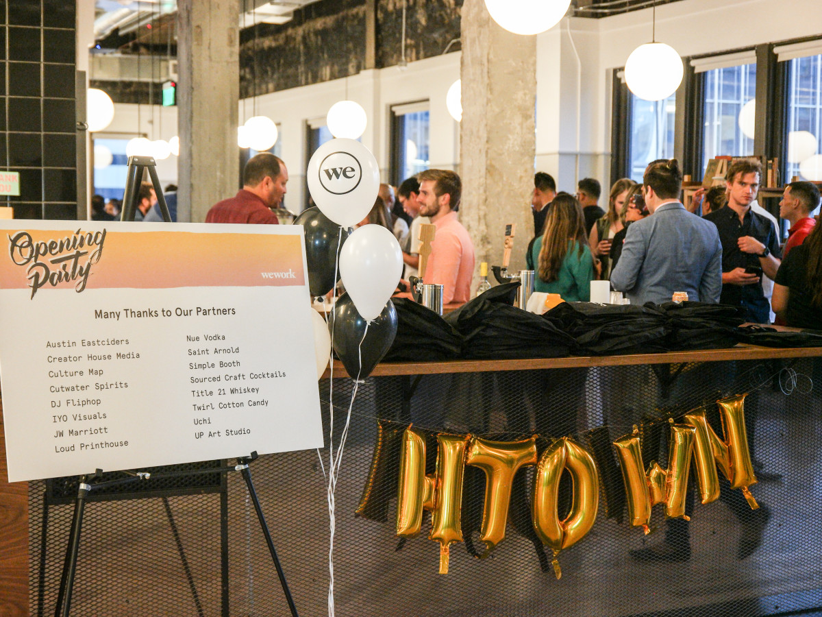 WeWork Houston grand opening party