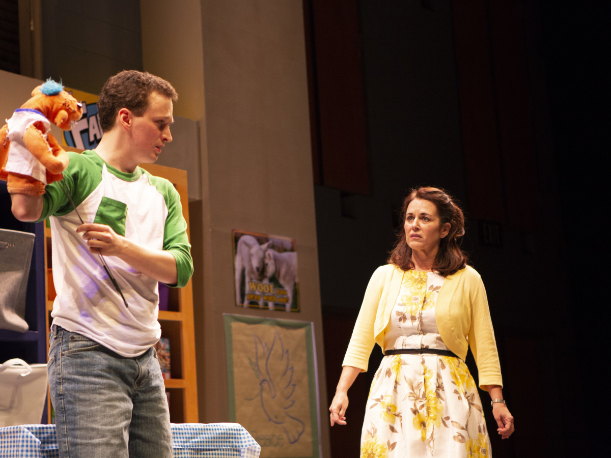 Parker Gray & Shannon McGrann in Hand To God at WaterTower Theatre