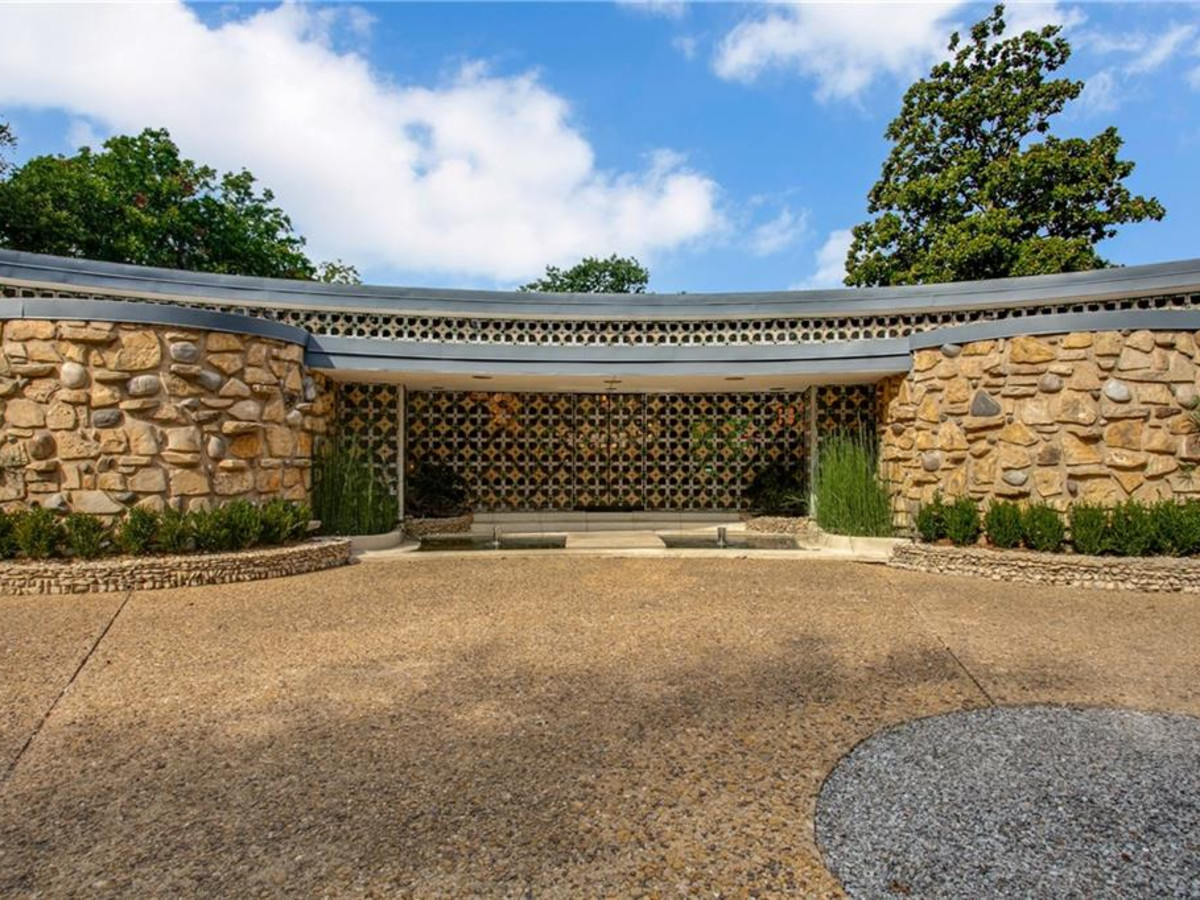 7507 Baxtershire Dr., round house, midcentury modern Dallas