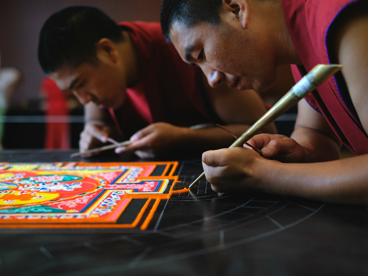 weekend events mystical arts of tibet monk mandala