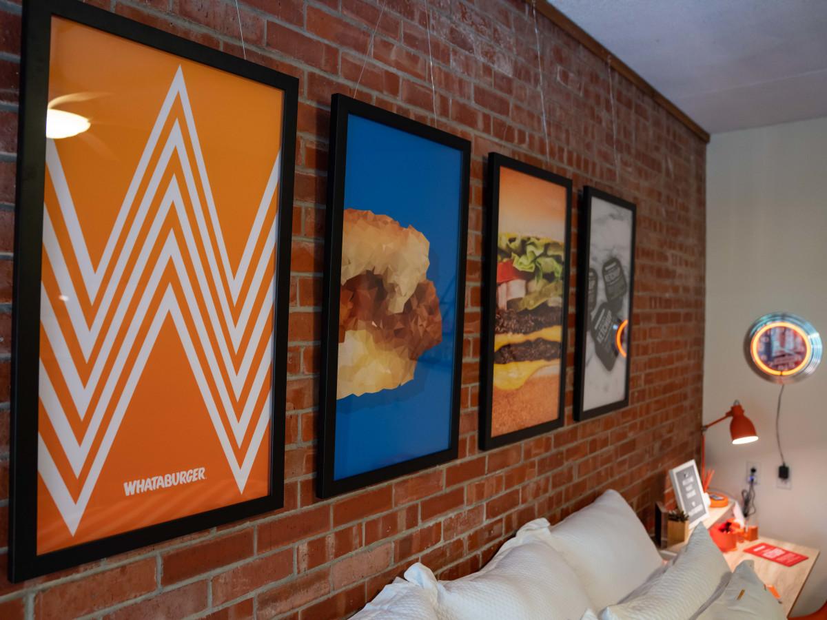 Whataburger dorm room art
