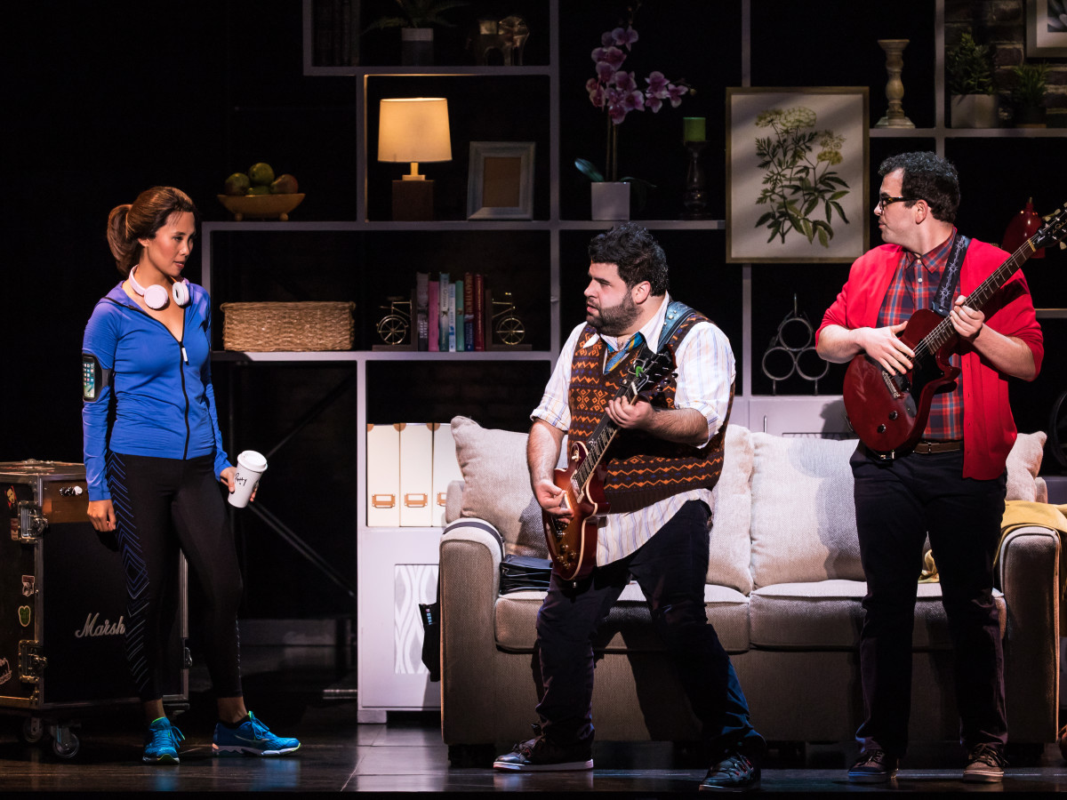 Emily Borromeo, Rob Colletti and Matt Bittner in the School of Rock Tour