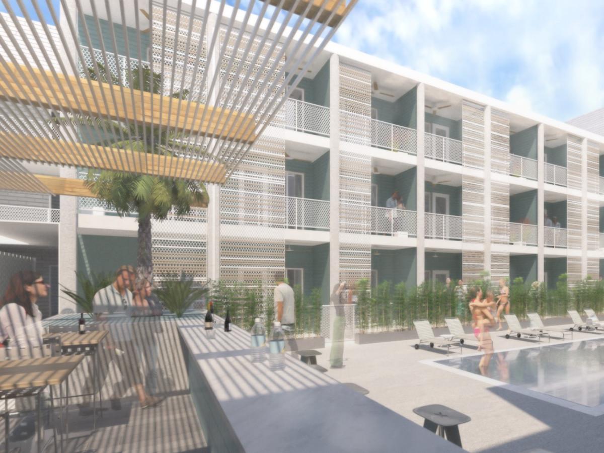 East Austin Hotel rendering