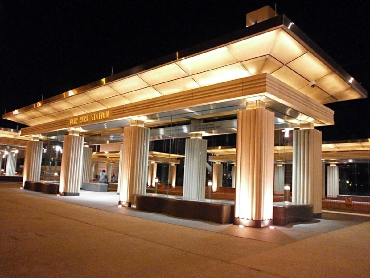 DART Fair Park Station, rail, train