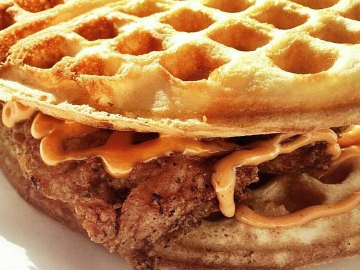 Waffle Bus sandwich
