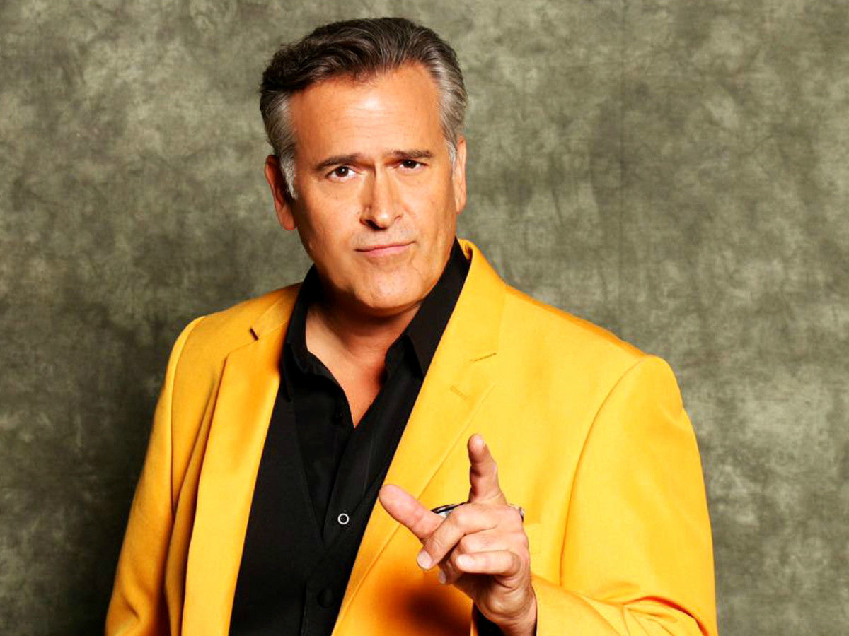Bruce Campbell yellow suit