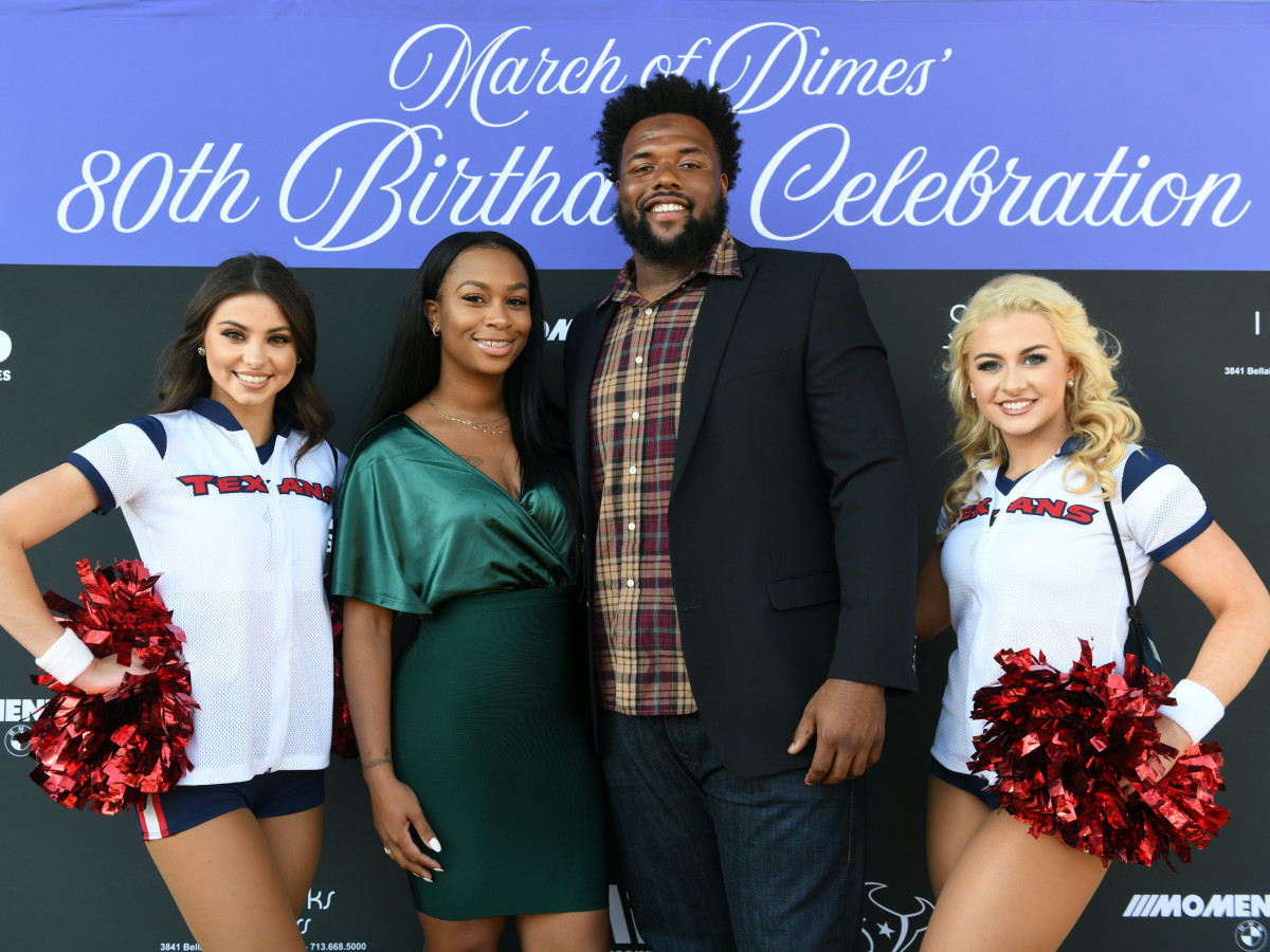 Houston Texans March of Dimes Janay Davis, Angelo Blackson