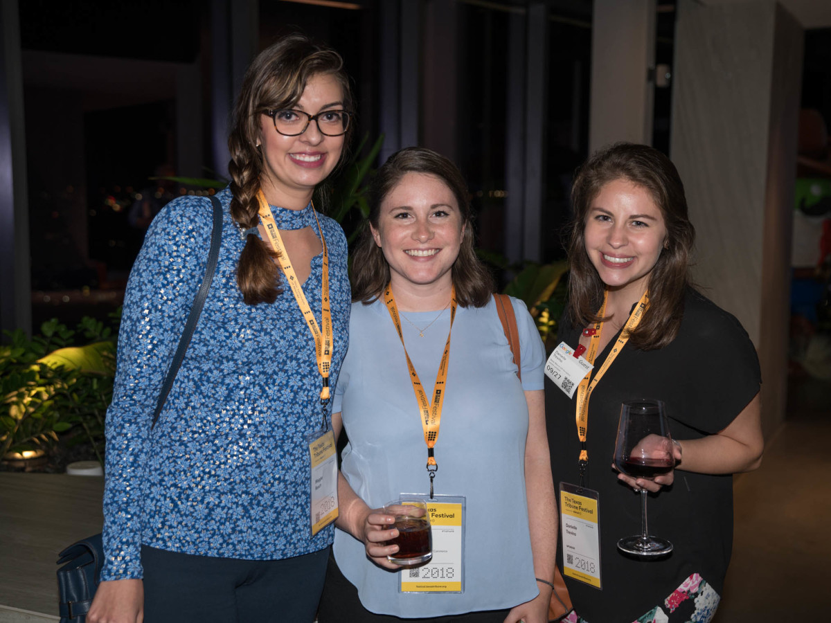 Texas Tribune Festival 2018 VIP Party at Google Maggie Reach Kristi Fogle Danielle Trevino