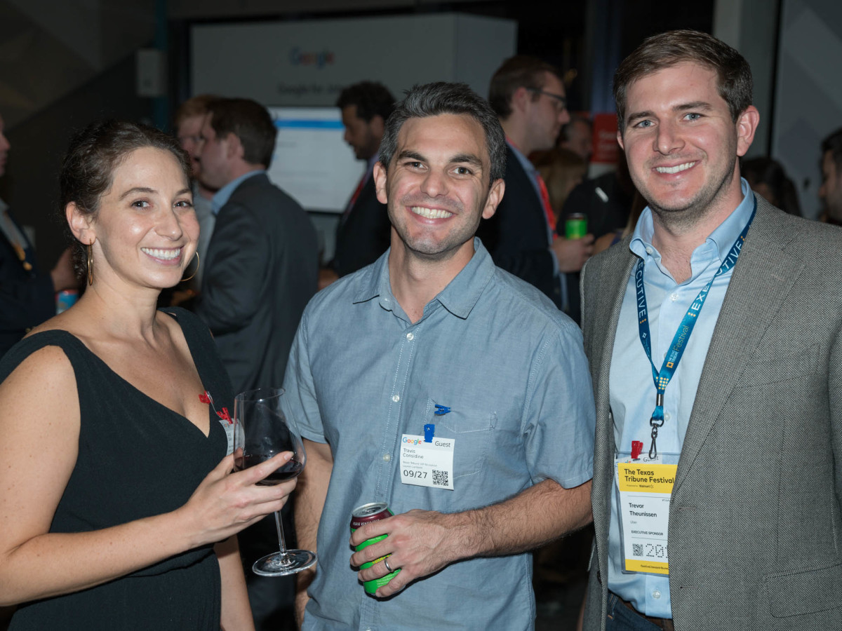 Texas Tribune Festival 2018 VIP Party at Google Lucy Stein Travis Considine Trevor Theunissen