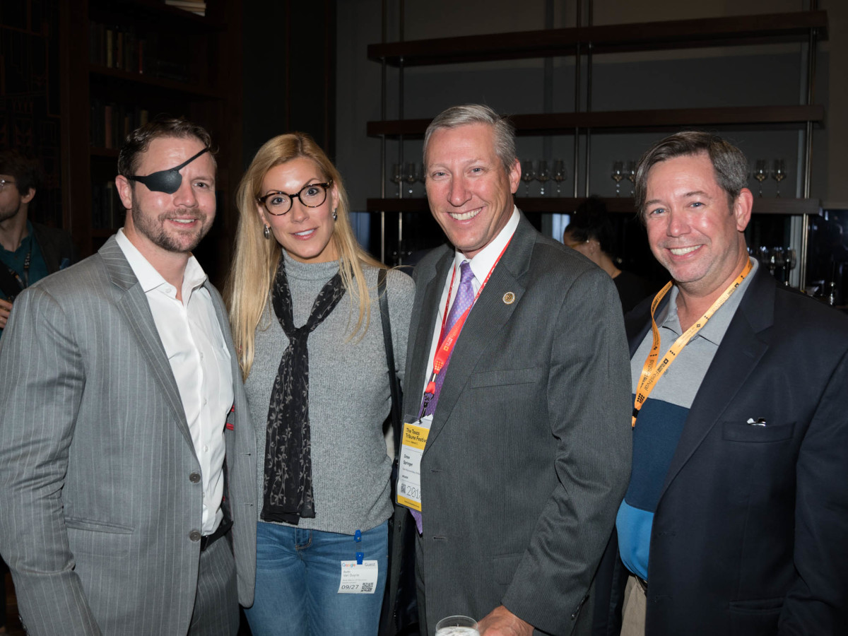 Texas Tribune Festival 2018 VIP Party at Google Dan Crenshaw Beth Van Duyne Drew Springer Chad Willbanks