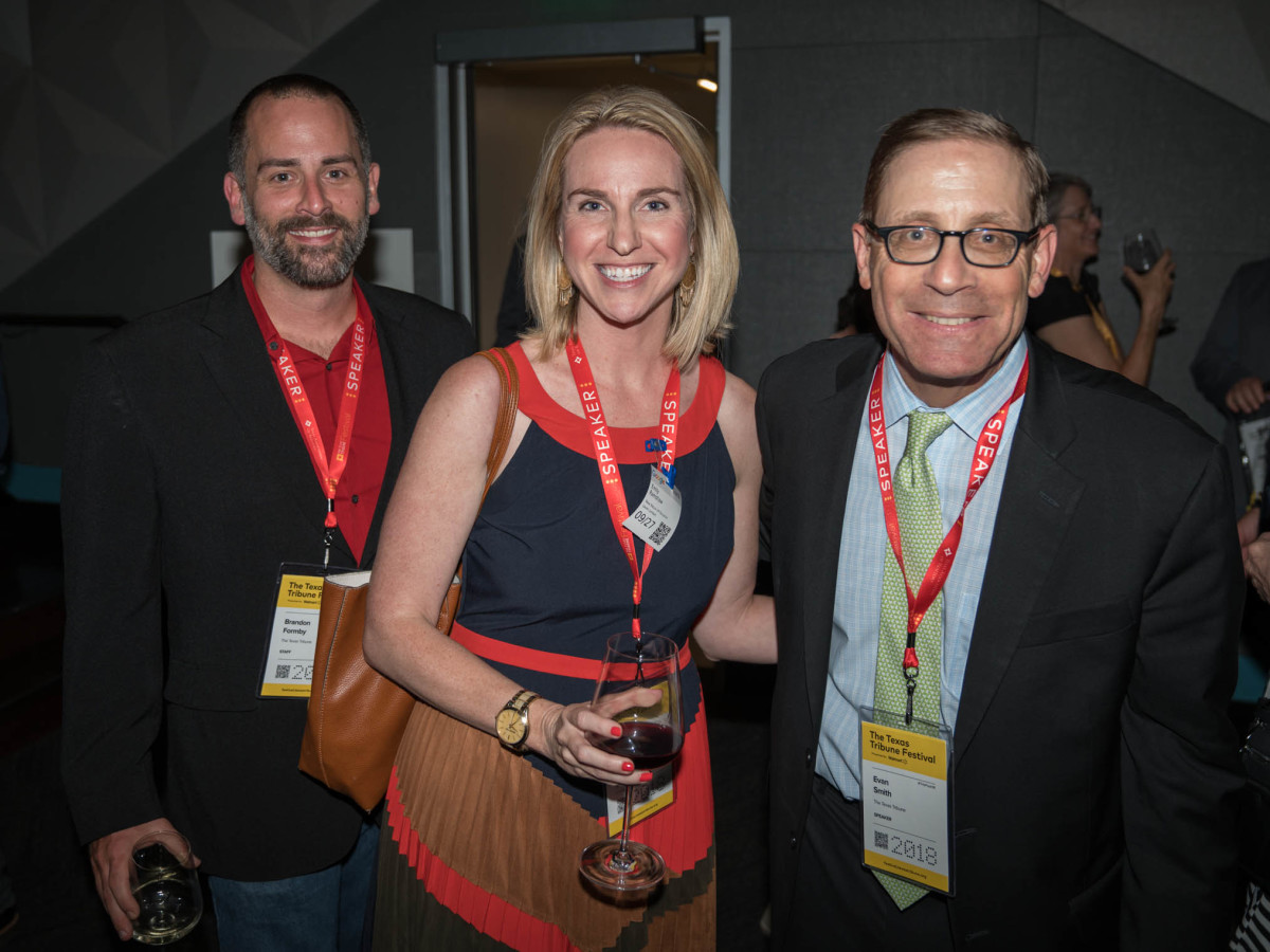 Texas Tribune Festival 2018 VIP Party at Google Brandon Formby Emily Ramshaw Evan Smith