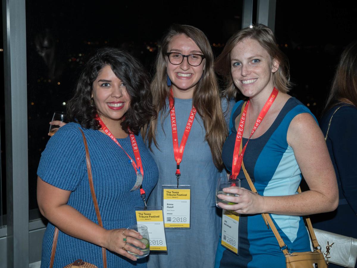 Texas Tribune Festival 2018 VIP Party at Google Alexa Ura Emma Platoff Jolie McCullough