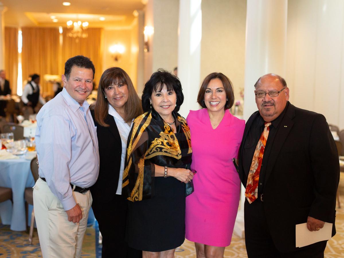 Luncheon guests with Deborah Ferguson