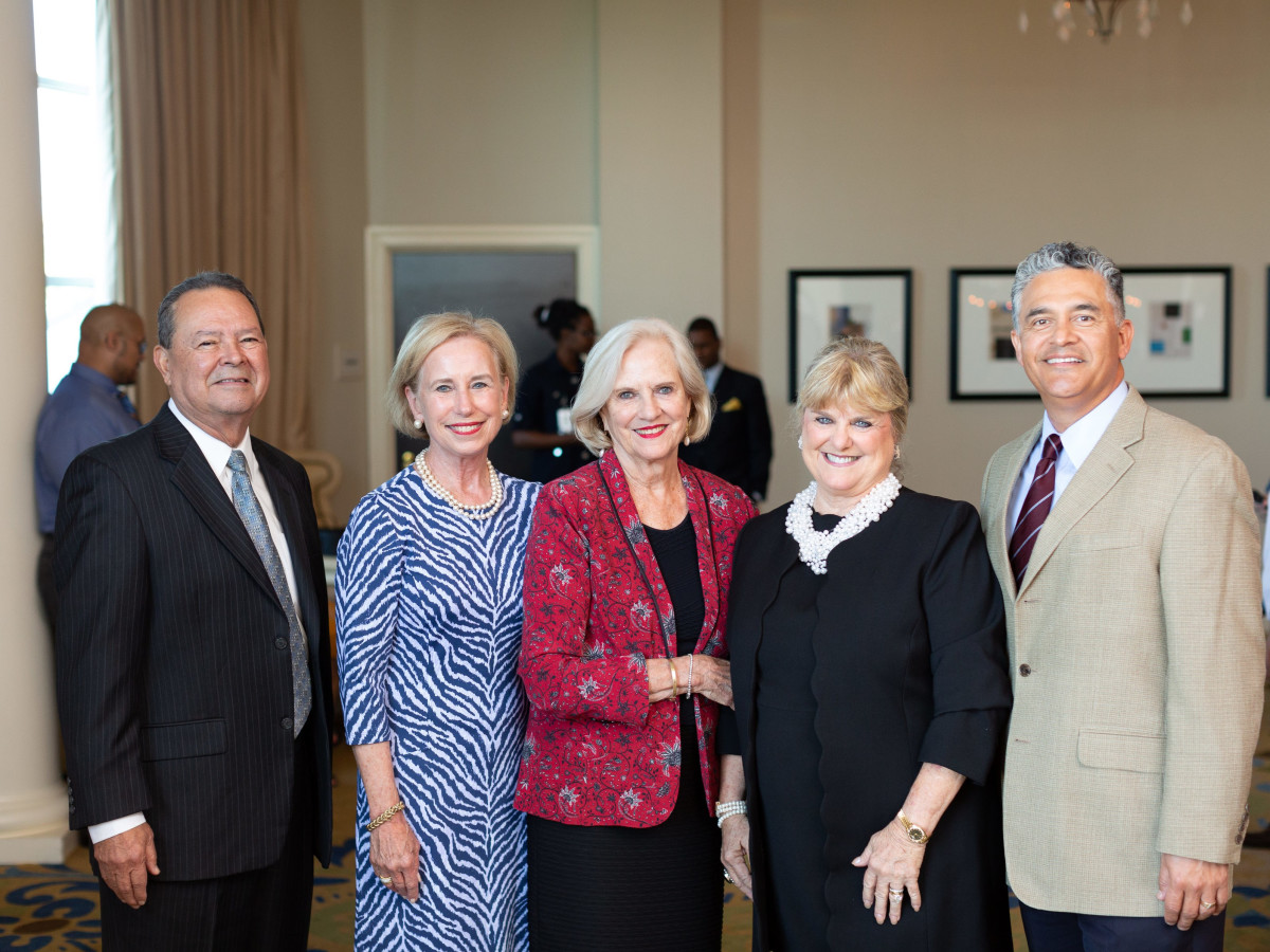 Richard Marquez, CEO for Texans Can Academy; Cheryl Van Zandt, Alice Brumley, Debby Brown, James Ponce, Chief of Schools of Texans Can Academy