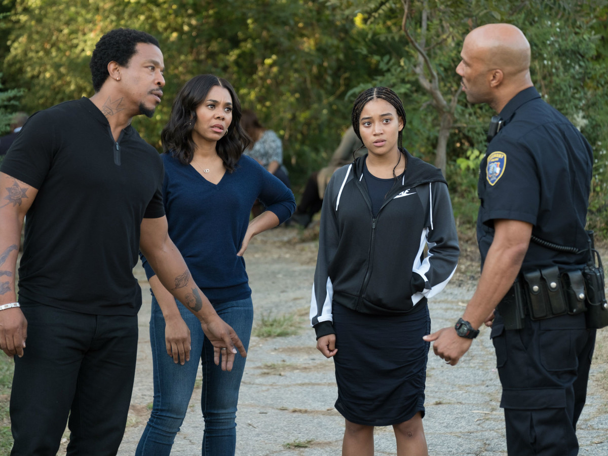Russell Hornsby, Regina Hall, Amandla Stenberg, and Common in The Hate U Give