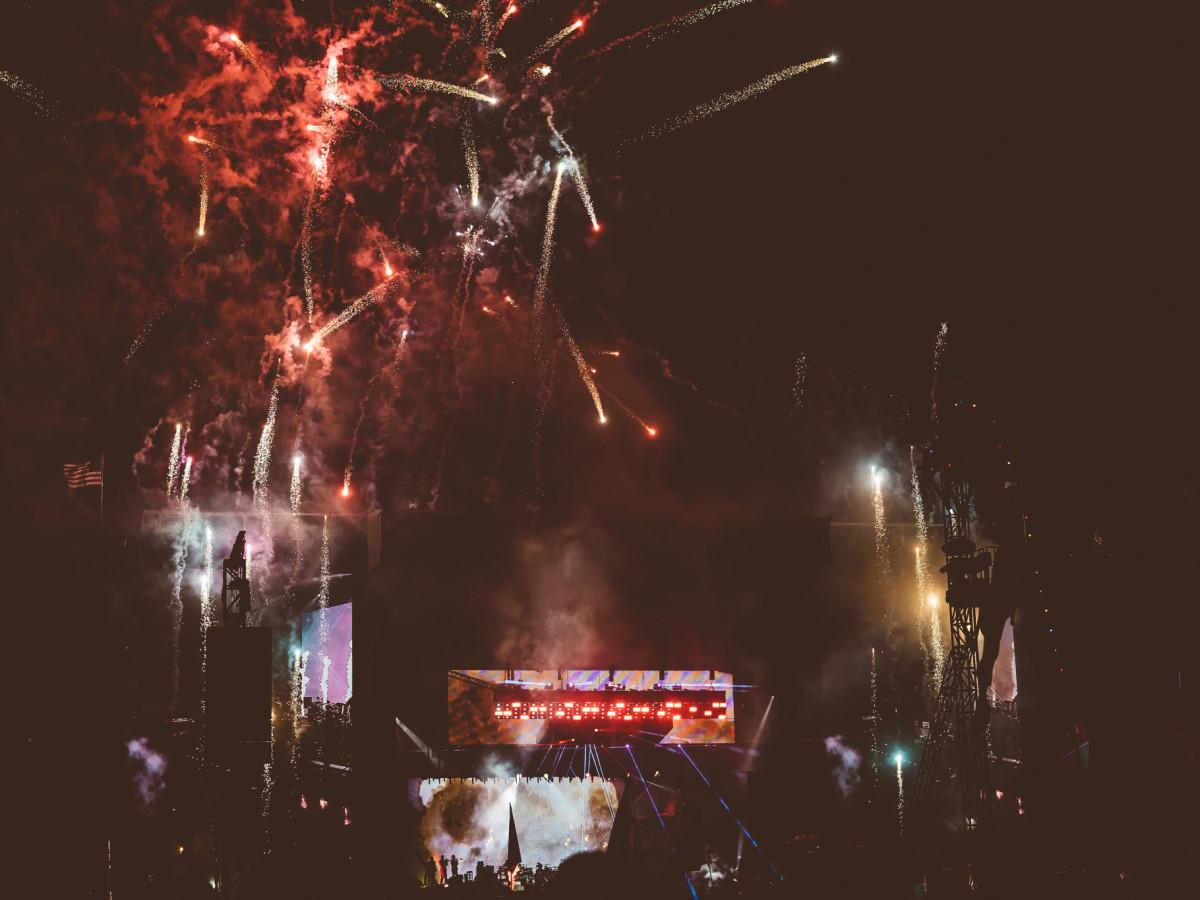 Austin City Limits festival fireworks