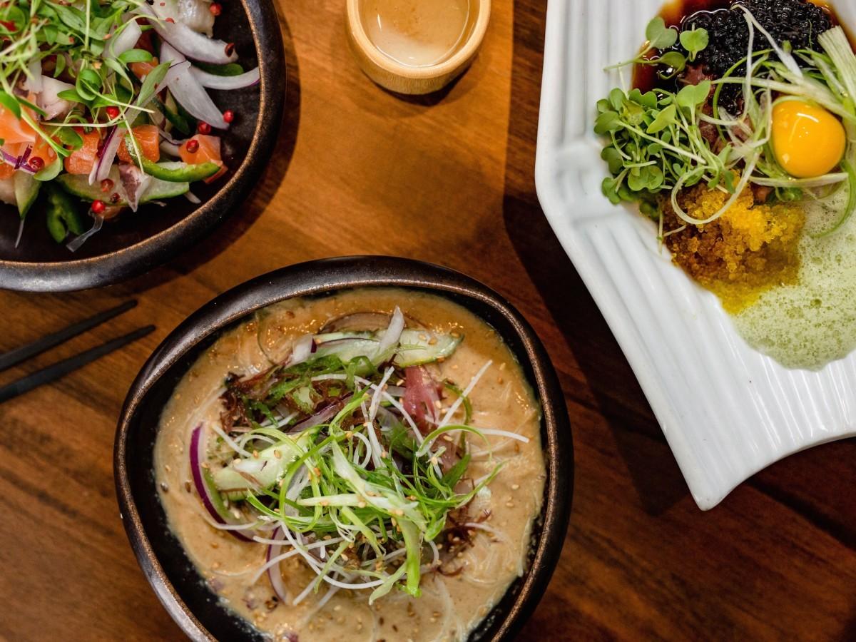 Shun Japanese yuzu ceviche umi salad toro tartare