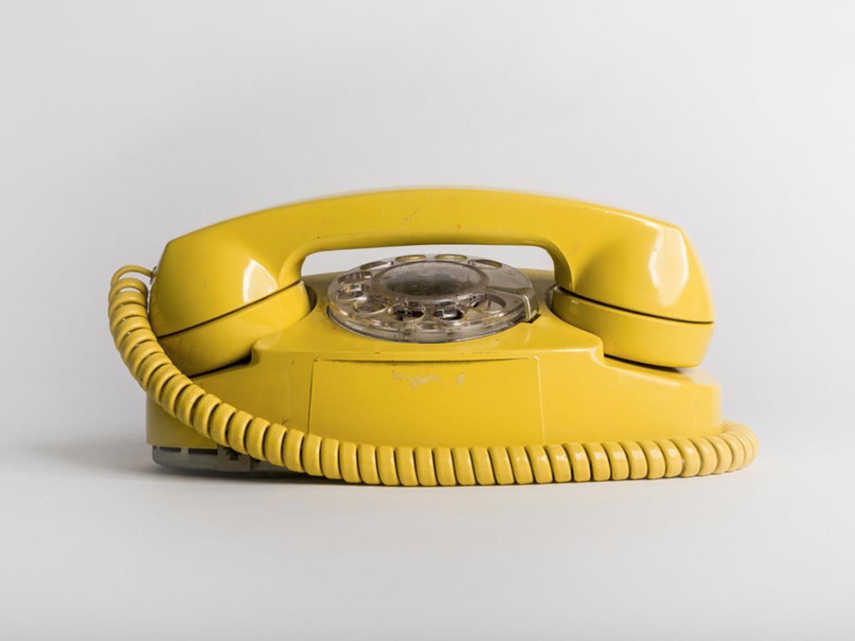 Paul Sokal: Before iPhone yellow telephone