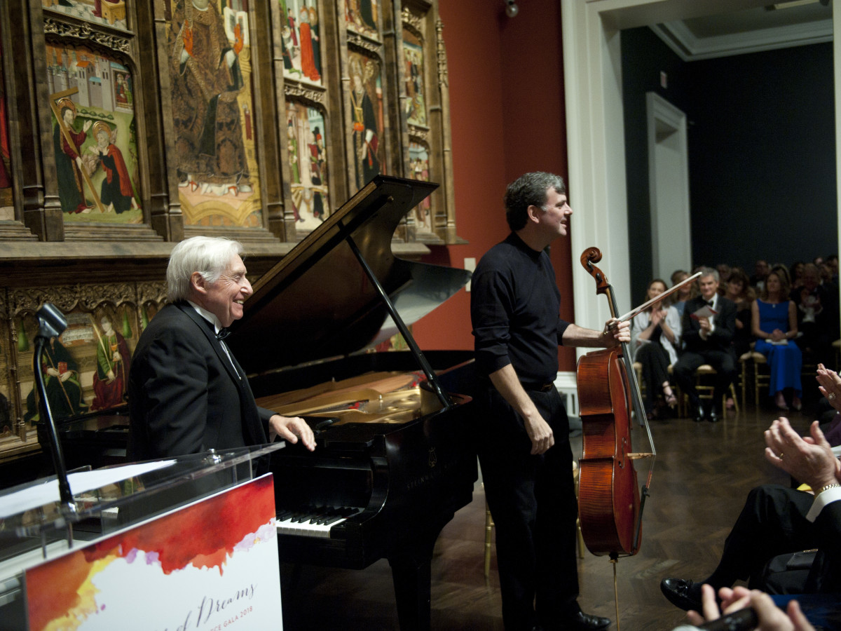 Joaquín Achúcarro (pianist) and Andrés Díaz (cellist)