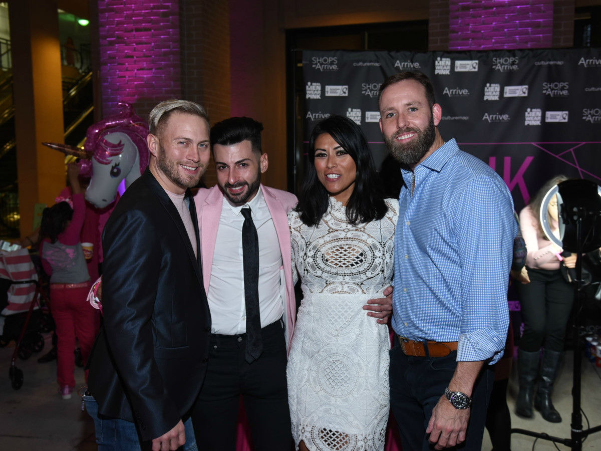 Pink Party 2018 West Ave Jeremiah gowen. Nicholas sinopoli. CJ joiner. Bryan turner.