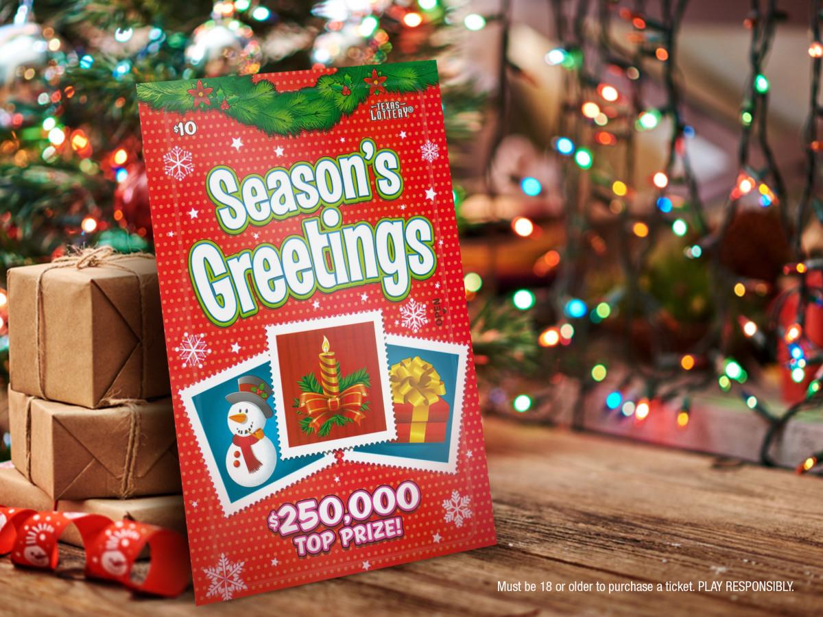 Texas Lottery Christmas tickets