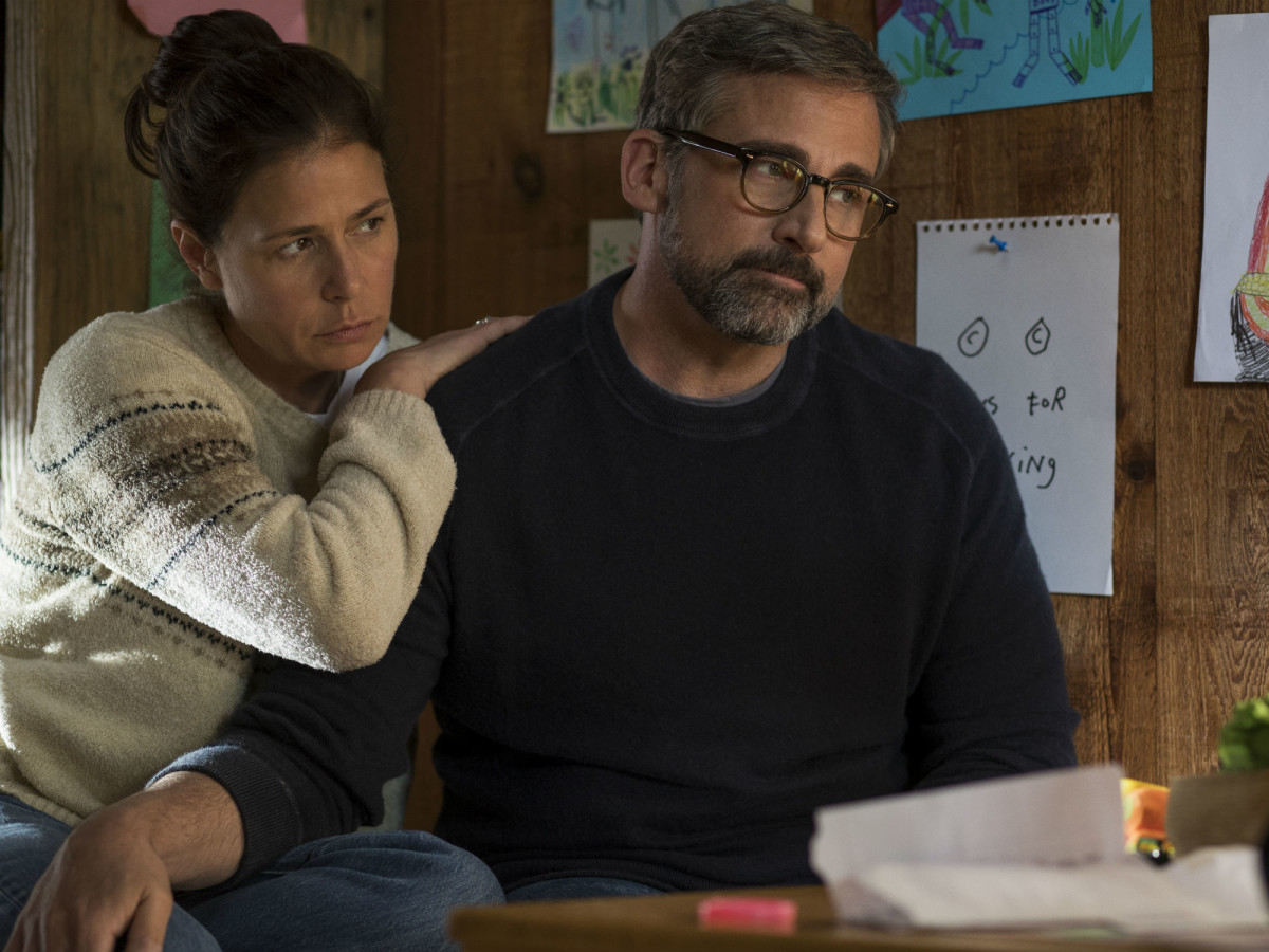 Maura Tierney and Steve Carell in Beautiful Boy
