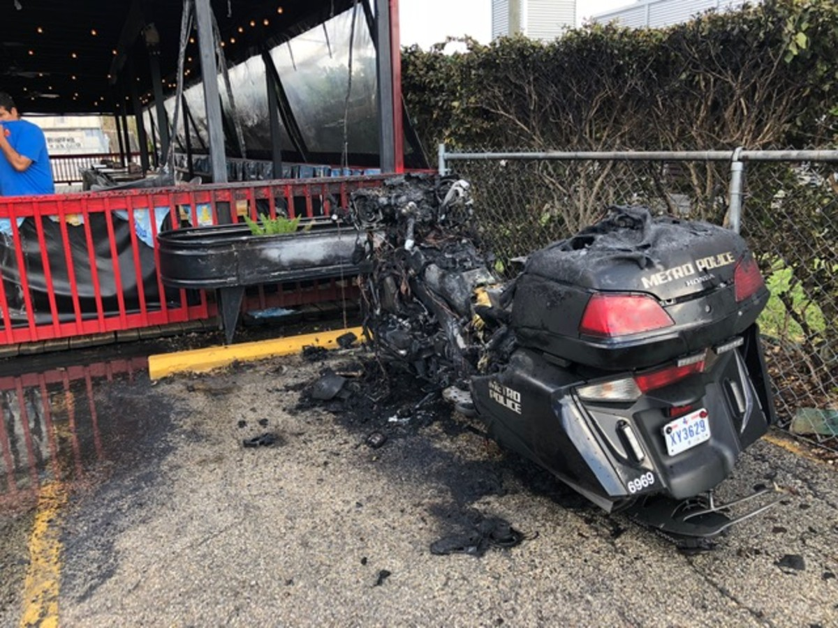 Jax Grill Metro motorcycle fire
