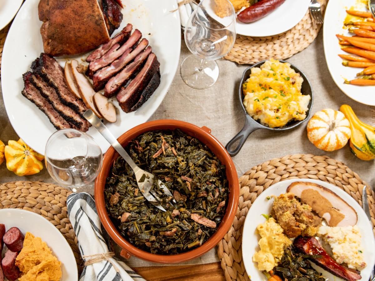 Feges BBQ Thanksgiving spread