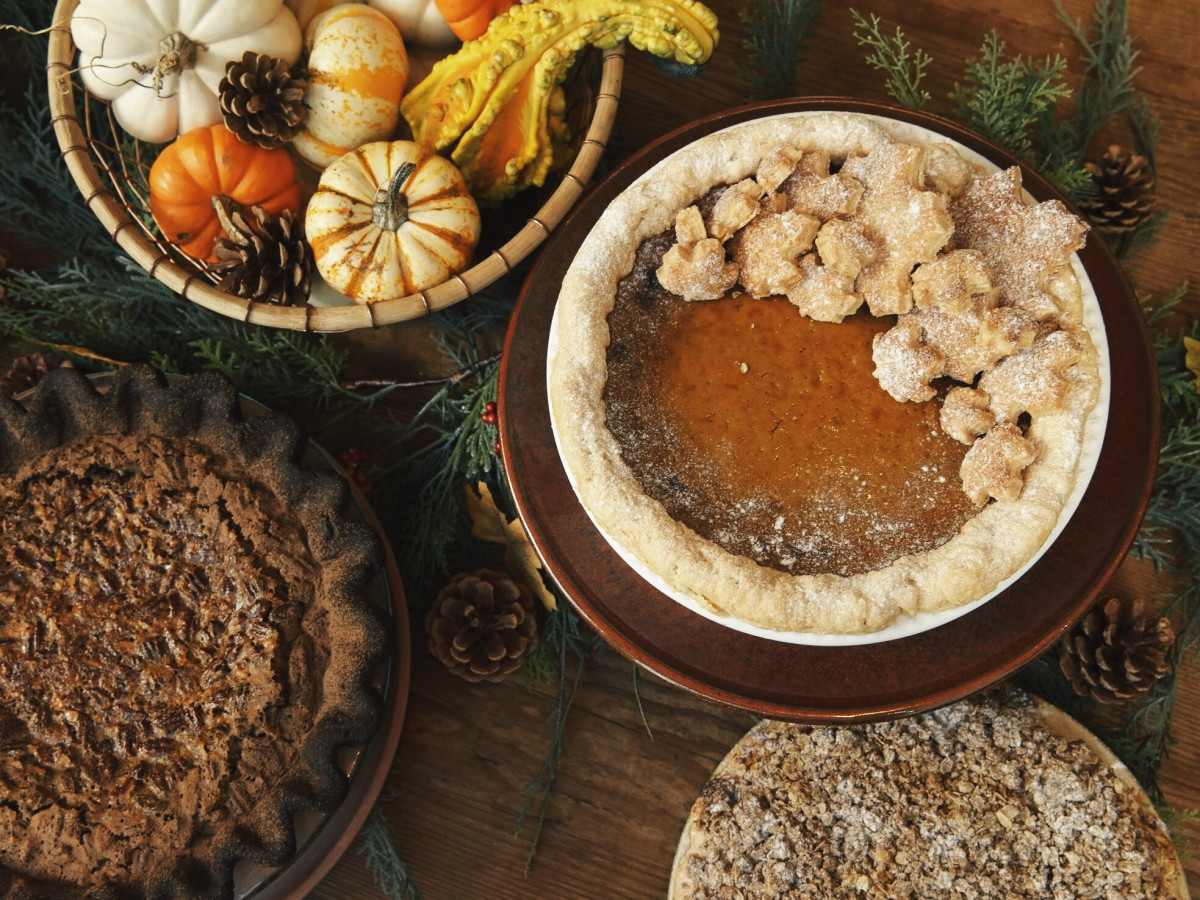 Pie, Thanksgiving table setting
