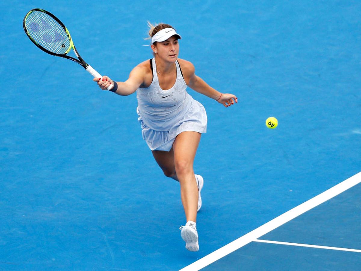 Belinda Bencic action shot tennis Ken Hoffman