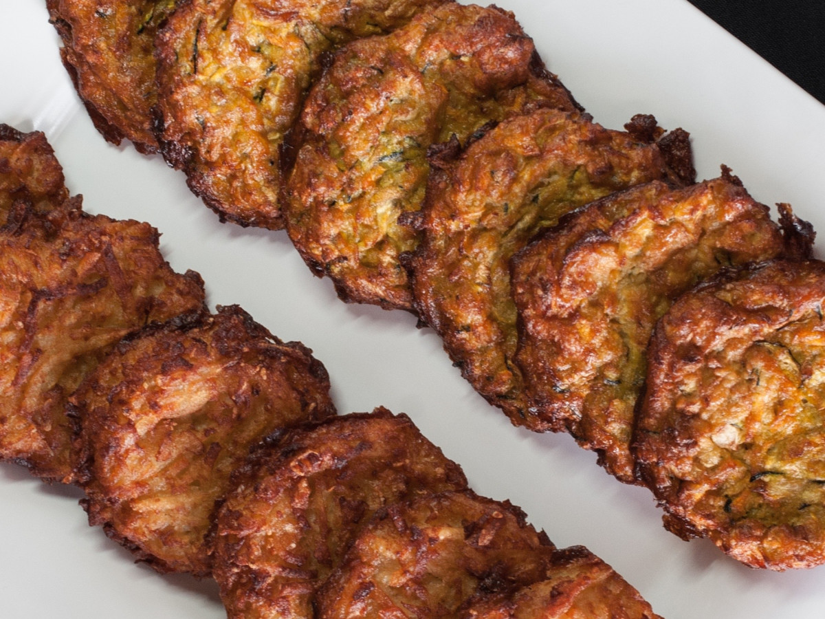 Kenny & Ziggy's potato pancakes latkes