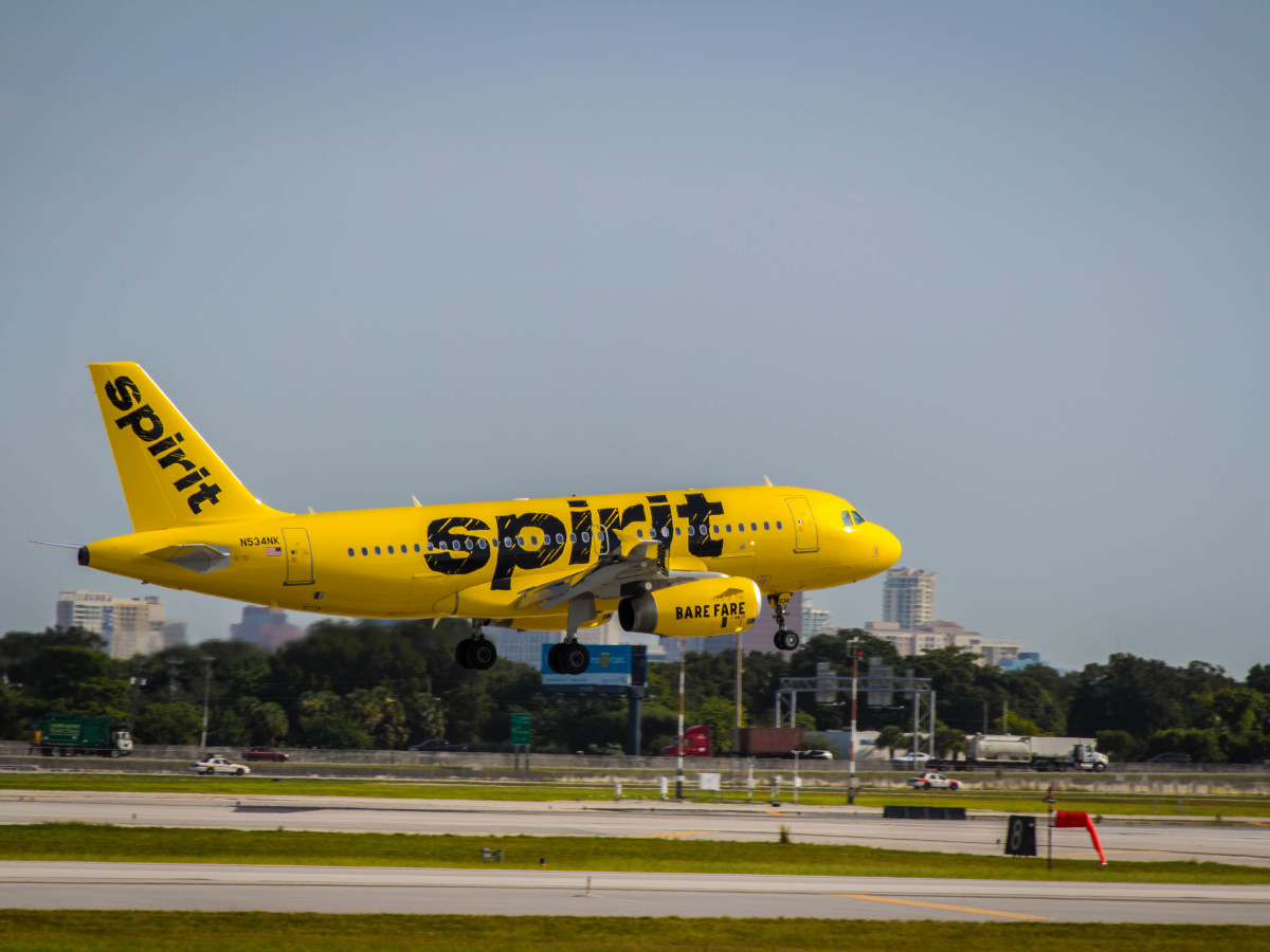 Spirit Airlines jet airplane plane