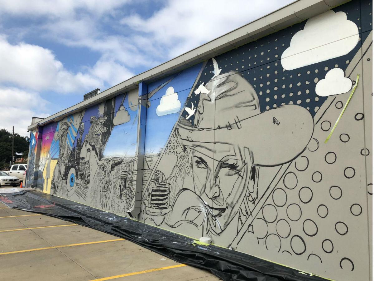 Sam's Club mural