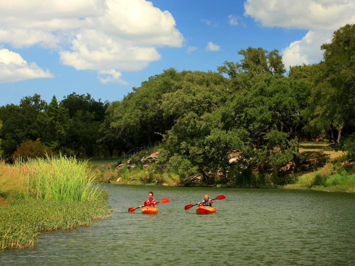 Onion Creek kayakers