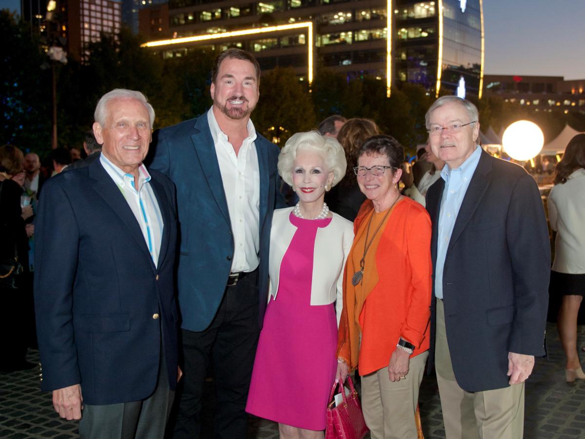Jody Grant, Babe Laufenberg, Sheila Grant, Diane Brierley, and Hal Brierley