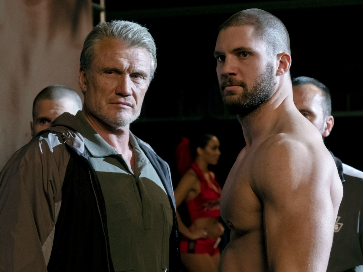 Dolph Lundgren and Florian Munteanu in Creed II