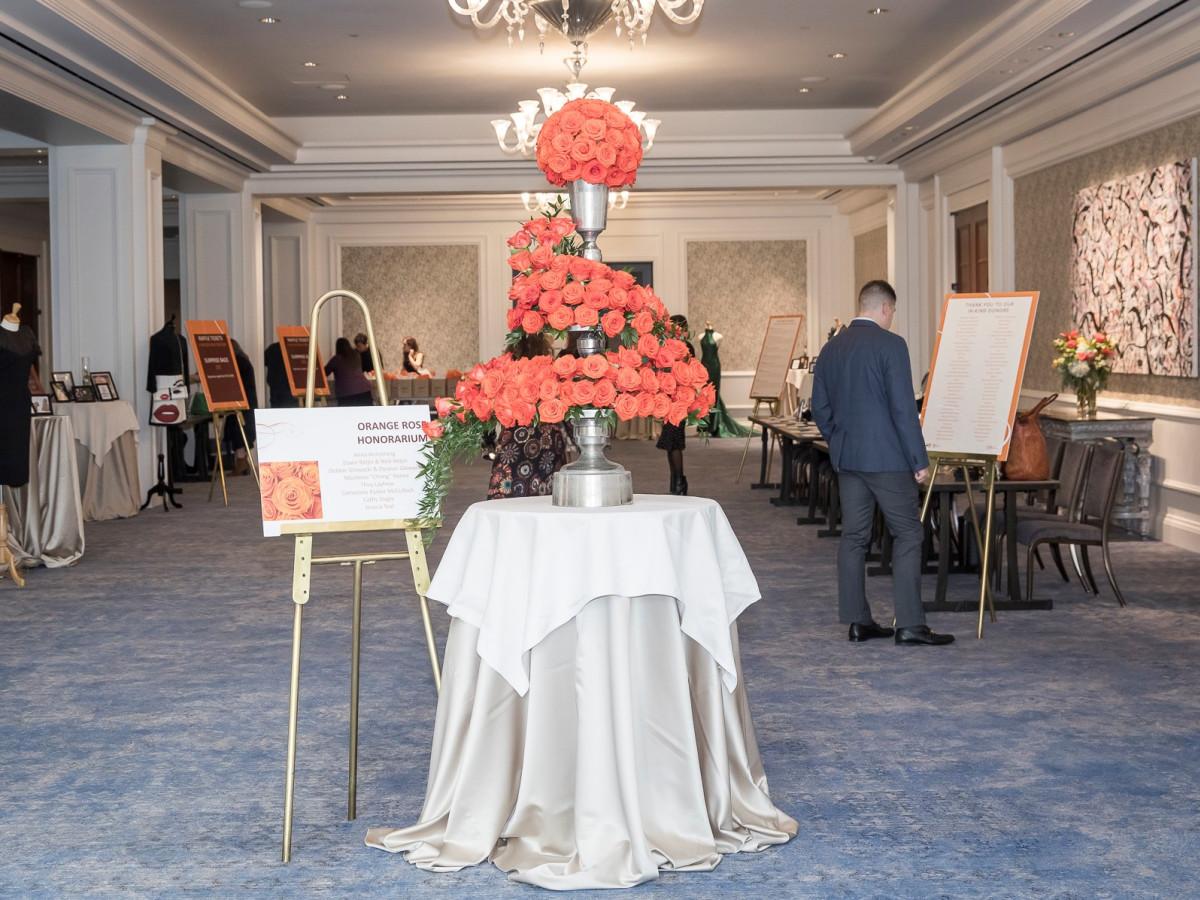 Orange Rose Honorarium Display