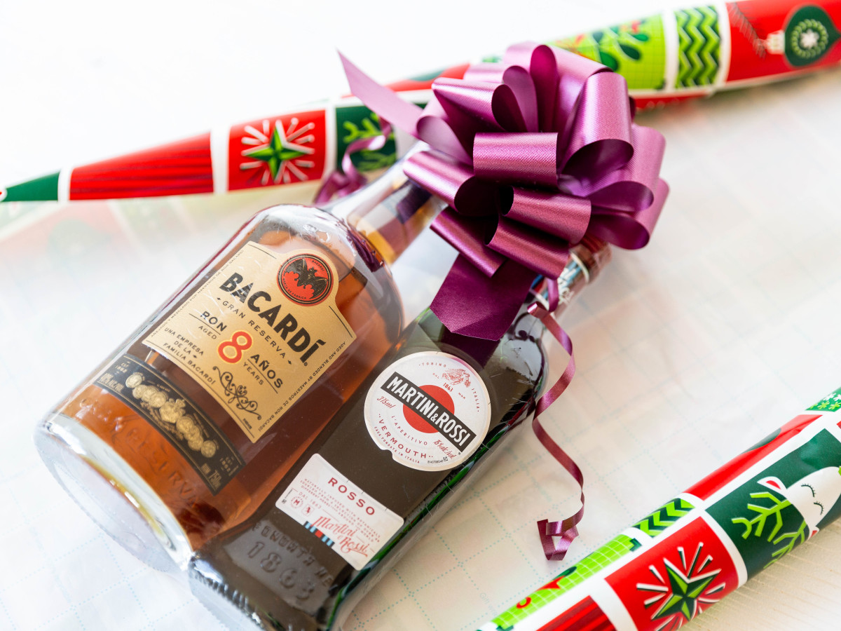 Holiday pack of Bacardi and Martini & Rossi