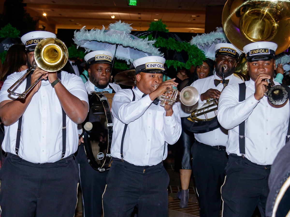 Kinfolk brass band, Crystal Charity Ball 2018