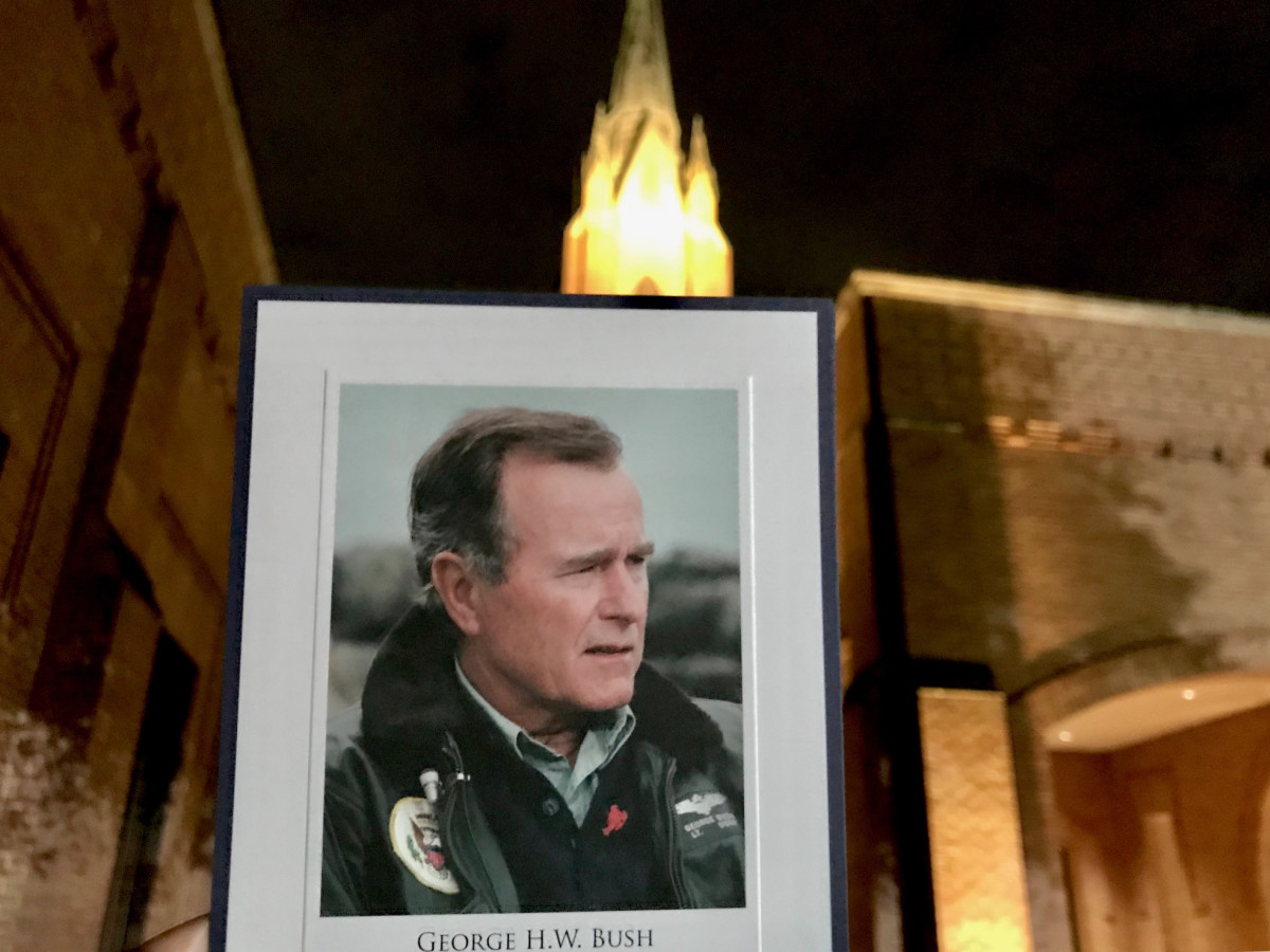 President George HW Bush visitation thank you card St Martin's church