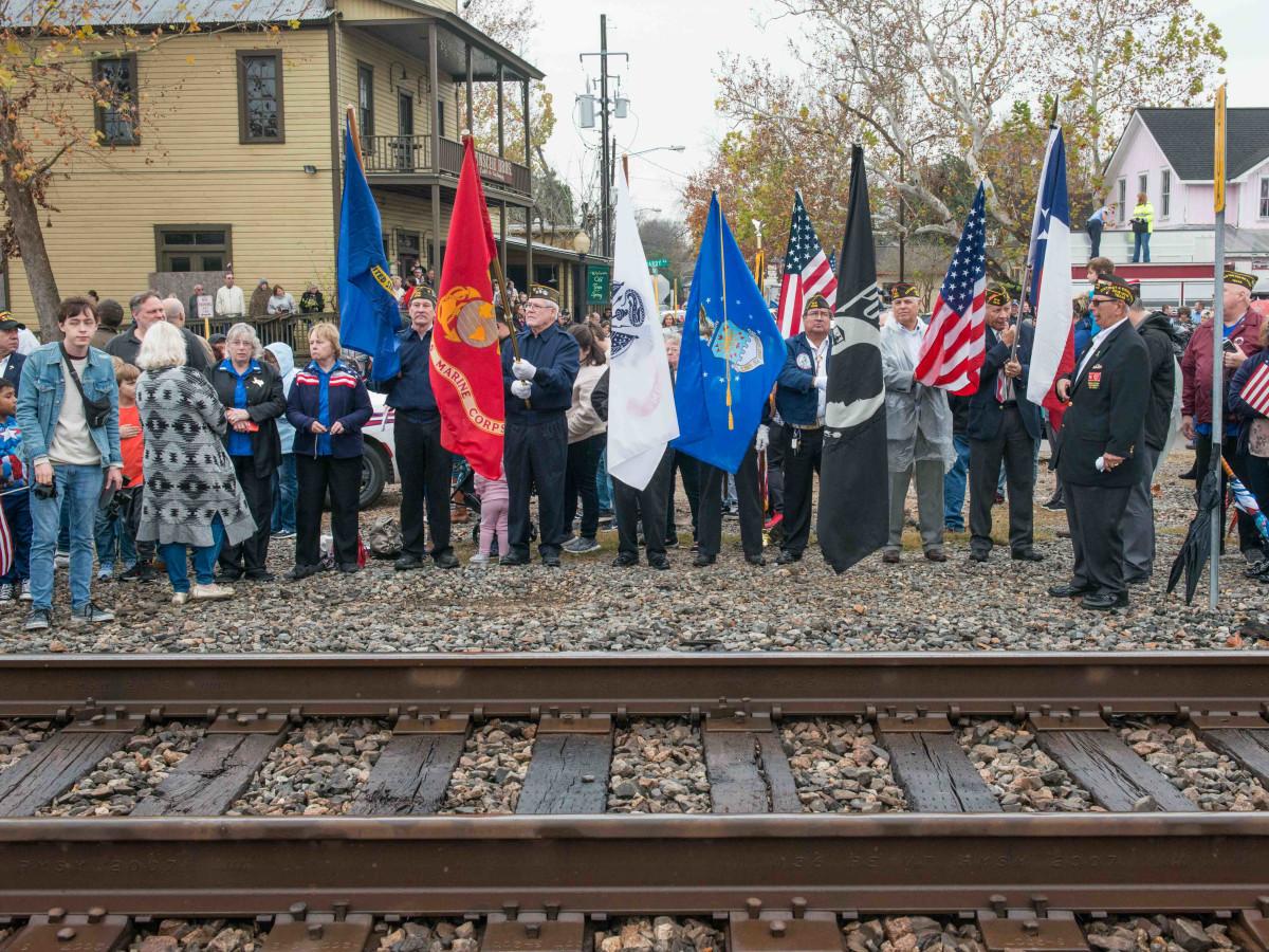 President Bush train 4141 procession Spring