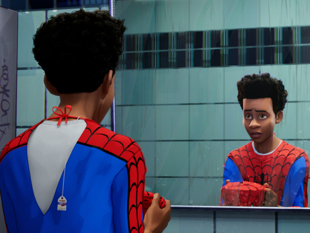 Miles Morales (Shameik Moore) in Spider-Man: Into the Spider-Verse