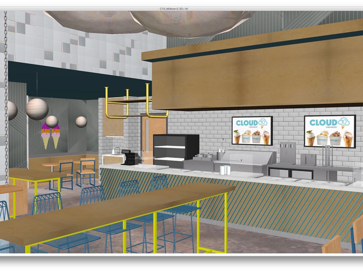 Cloud 10 Creamery Midtown rendering