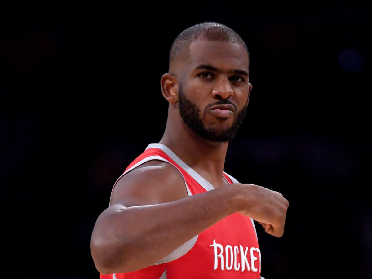 Chris Paul Houston Rockets fist pump