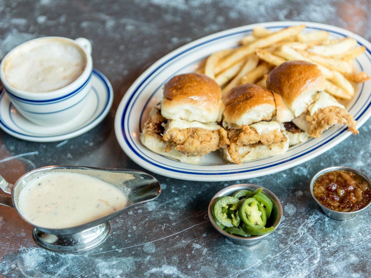 Liberty Kitchen Dixie fried chicken sliders